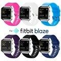 Novo de alta qualidade grande tamanho várias cores suaves silicone faixa de relógio pulseira para fitbit chama smart watch fbbzossb