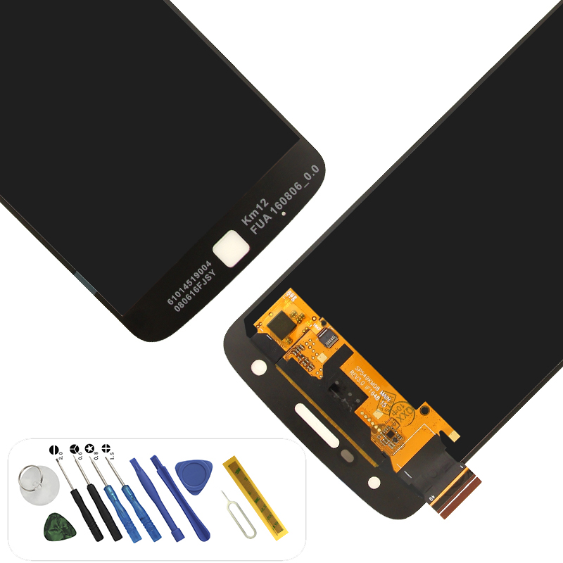 <font><b>XT1635</b></font> <font><b>XT1635</b></font>-<font><b>02</b></font> lcd display touchscreen digitizer with tools assembly replacement for motorola moto z play screen image