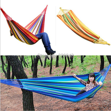 280x80cm Hammock bearing 150KG outdoor Furniture camping hunting leisure goods rainbow print camp Hammock outdoor sports