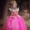 Платье девушки детская одежда принцесса косплей спящая красавица платья партии одежда для девочек платья для девочек