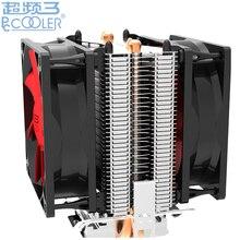 С двумя вентиляторами 2 тепловыми трубками Кулер охлаждения для Intel LGA1151 775 1150 1155 радиатор для AMD CPU вентилятор PcCooler S80Ex