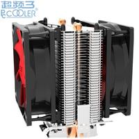 Retail Box 80mm Fan 2 Heatpipe Side Blown For Intel 775 1150 115x For AMD 754