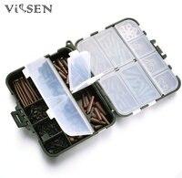 Vissen 모듬 잉어 낚시 액세서리 태클 상자 머리 장비 콤보 상자 후크, 고무, 스위블, 구슬, 소매, 스토