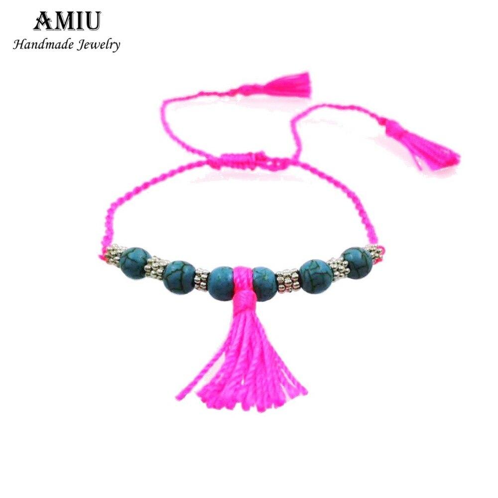 AMIU 1PCZ-I ročno izdelana ljubezenska zapestnica ljubezni Hippy - Modni nakit