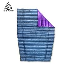 Ледяное пламя 7D 3 сезона 800FP 90% белый гусиный пух спальный мешок Одеяло Спальное одеяло нижнее одеяло для гамака альпинизма кемпинга