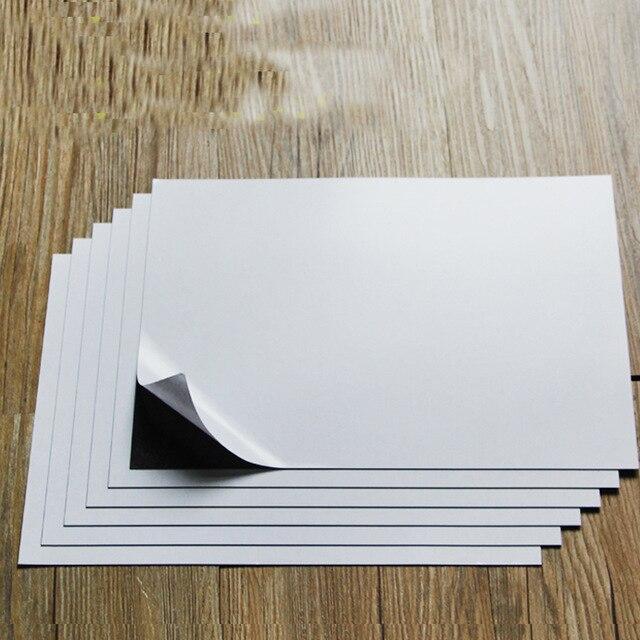 """""""a4 6 Sheets Selbst Adhesive Weichen Gummi Magnetische Blatt Bord 0,75mm Für Spellbinder Stirbt/handwerk Starke Dünne Und Flexible 297x210mm"""