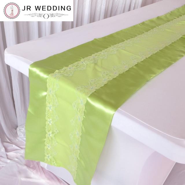 Fancy Lemon Green Lace Table Runner For Home Wedding Decor