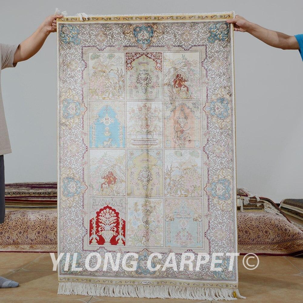Yilong 3'x4.5' Handmade oriental four season carpet exquisite garden persian rug (0608)