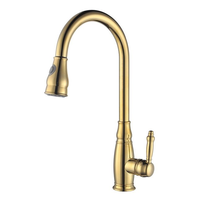 Rolya Copper Water Saver Filter Swivel Kitchen Sink Mixer Tap Pull ...