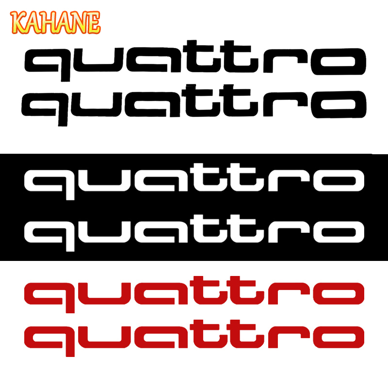 KAHANE 2x Quattro Logo Car Styling Car Body Sticker Vinyl Decal Sticker For Audi A5 A6 Q5 A4 B8 A3 Q7 A7 A8 Q3 Quattro A4 B6 audi coupe quattro купить витебск