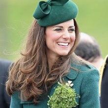 Королевская принцесса котелок шерстяной берет фетровая шляпа из чистой австралийской шерсти Женская мода осень зима ужин церковная фетровая шляпа