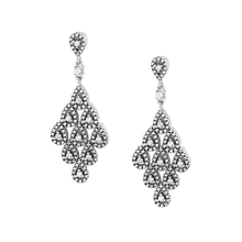 73600c1d55c4 Auténtica Plata de Ley 925 pendientes de Glamour en cascada joyería de  estilo europeo para mujeres dijes de moda