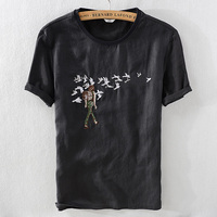 New designer black trend tshirt men brand fashion embroidery short sleeve t-shirt men summer casual loose t shirts male camiseta