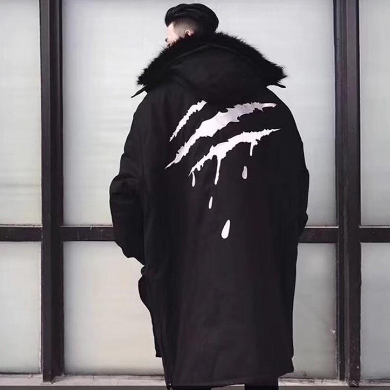 Winter Parka Men Winter Fur Warm Thick Jackets Cotton Chaquetas Hombre Parkas Mens Outerwear Mens Jackets and Coats streetwear coat