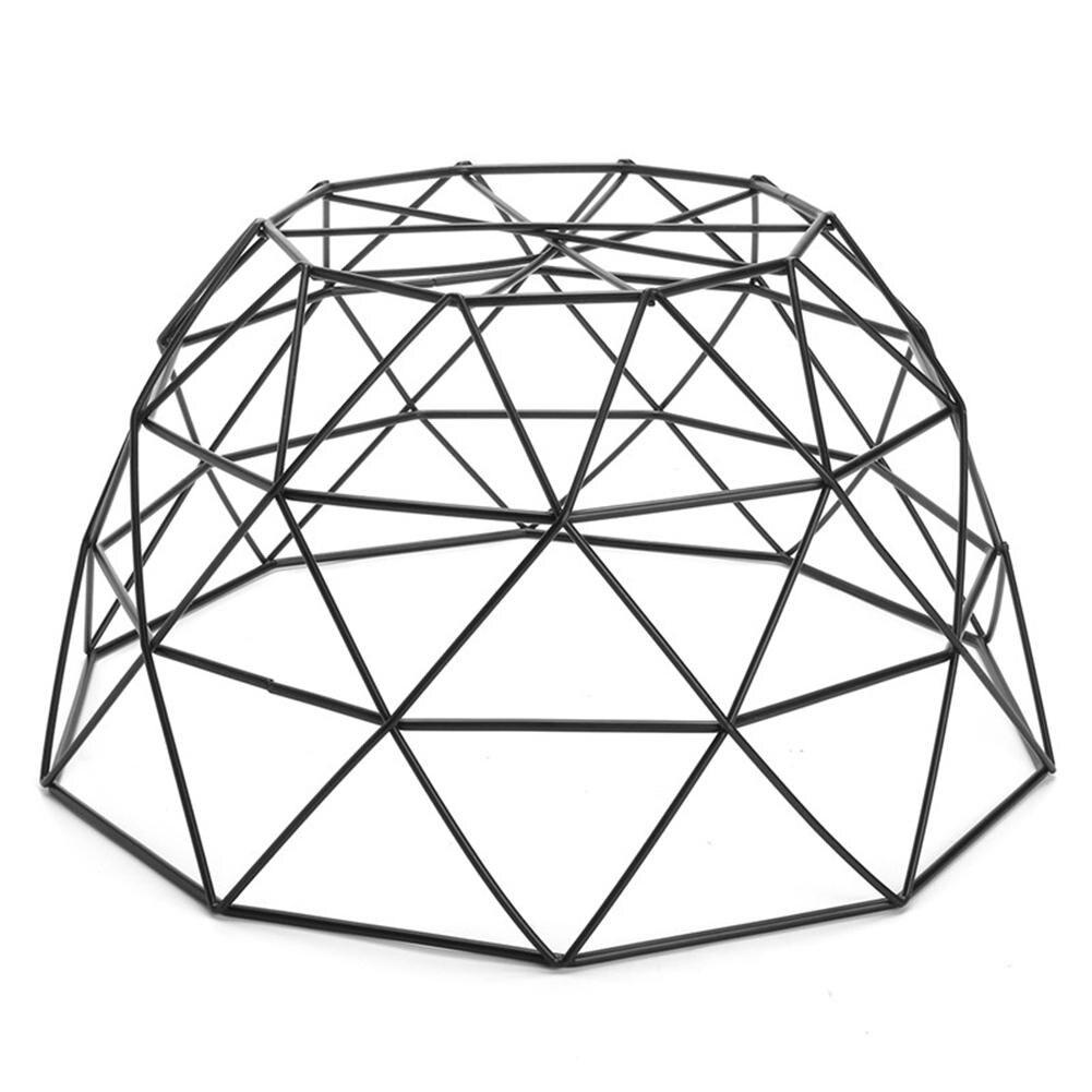 Iskandinav Tarzı Meyve Sepeti Tel Dekore Metal Depolama Sepeti Siyah