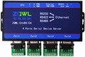 4 Порта RS422 Последовательных Устройств RS232 Сервер RS485 к Ethernet Modbus RTU Modbus TCP Конвертер Шлюз 9 ~ 36 В