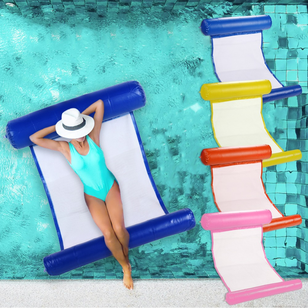 Air Mattress Foldable Swimming Pool Beach Inflatable Float Ring Cushion Bed Lounge Chair Mattress Hammock Water SportsAir Mattress Foldable Swimming Pool Beach Inflatable Float Ring Cushion Bed Lounge Chair Mattress Hammock Water Sports