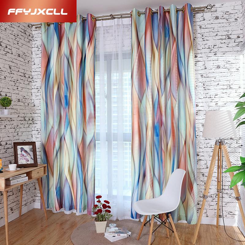 d impreso ventana moderna cortina blakout para de saln cocina habitacin habitacin cortinas de tela