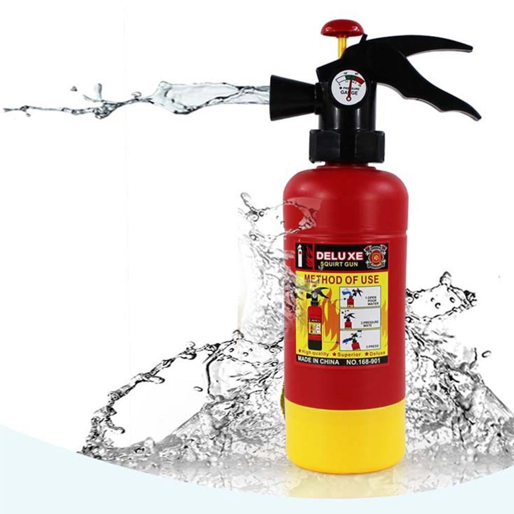 Fun Simulation Fire Extinguisher Toy Children Summer Swimming Water Spray Machine Game Kids Toys Funny Gadgets