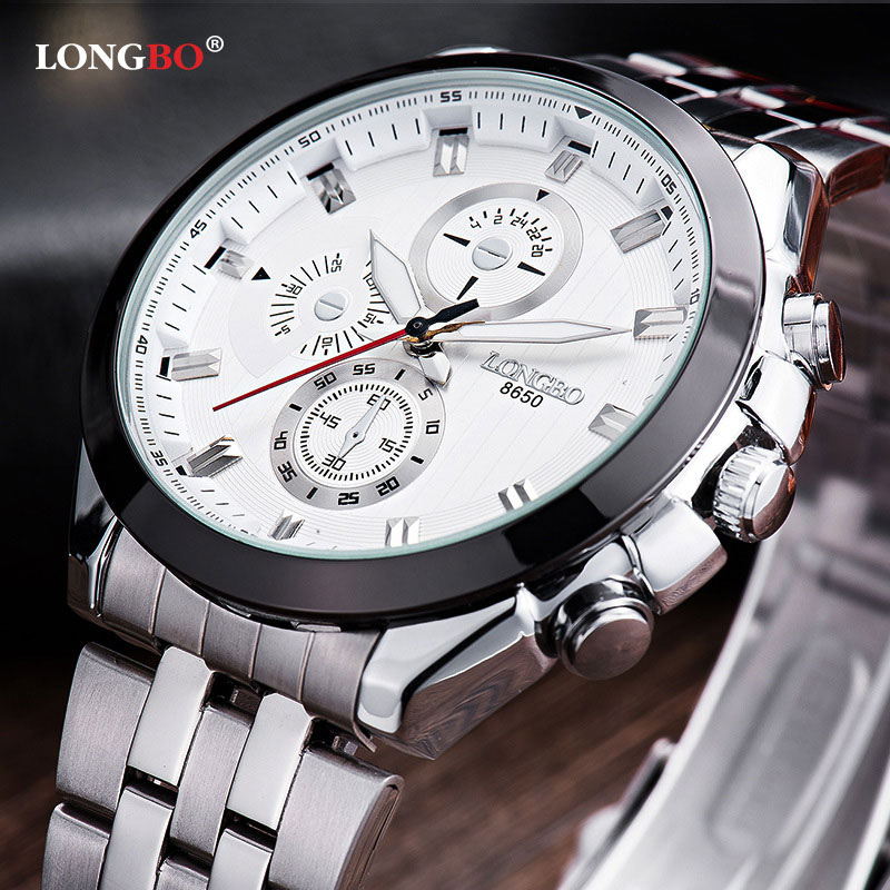 LONGBO Wristwatch Fashion 2018 Quartz Watch Men Top Brand Luxury Famous Wrist Watch Male Clock for Man Hodinky Relogio Masculino longbo luxury brand fashion quartz watch blue leather strap women wrist watches famous female hodinky clock reloj mujer gift