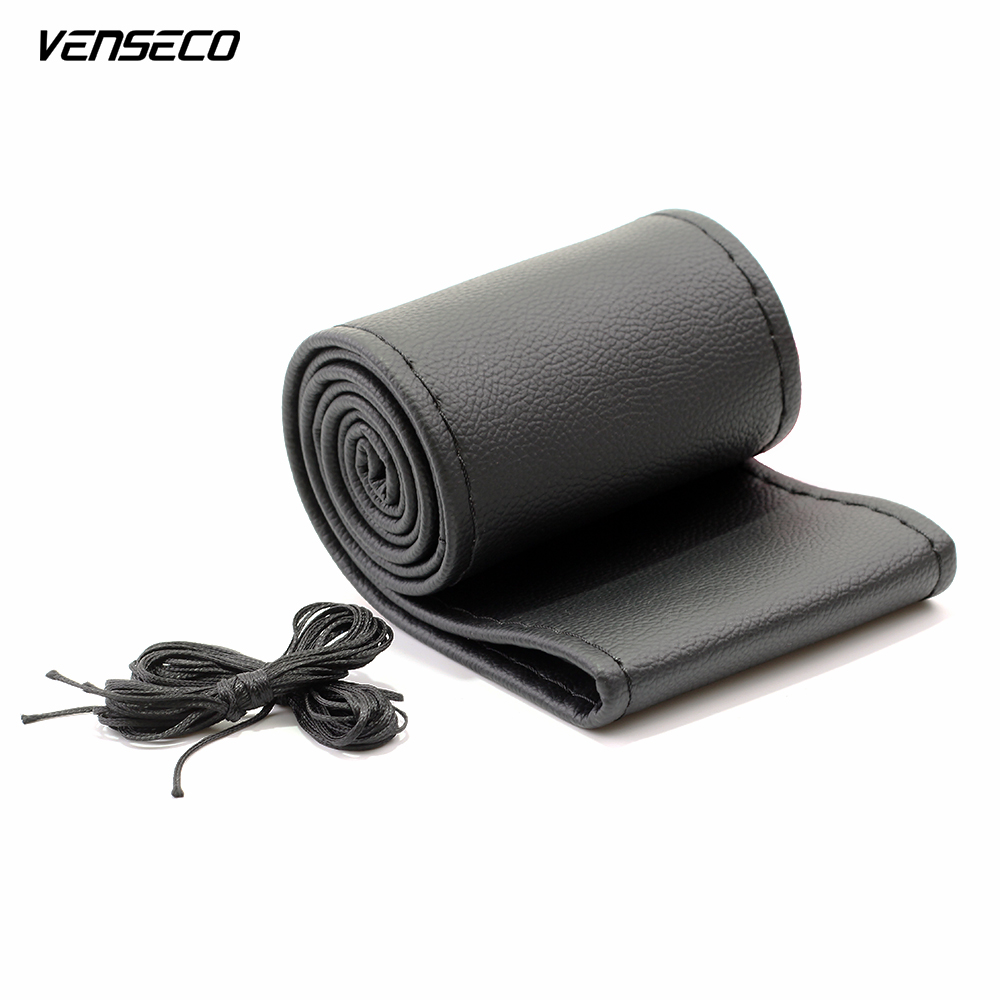 VENSECO smooth surface steering wheel cover for haval h6 soft super fiber twine auto ruly 38cm DIY braid on the steering wheel