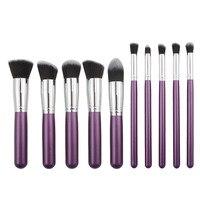 2016 10PCS Cosmetic Makeup Brushes Set Foundation Powder Eyeshadow Brush Cosmetics Brand Makeup