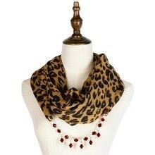 leopard scarf pendant jewellery scarfs chiffon shawl hijab necklace wraps fashion bandana mujer pendants accessories