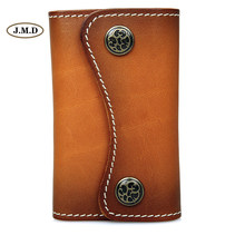 Genuine Leather Fashion Style Brown Color Key Bag Card Holder Key Case 6 Key Hook-ups Business Portable Key Bag 8130B-1(China)
