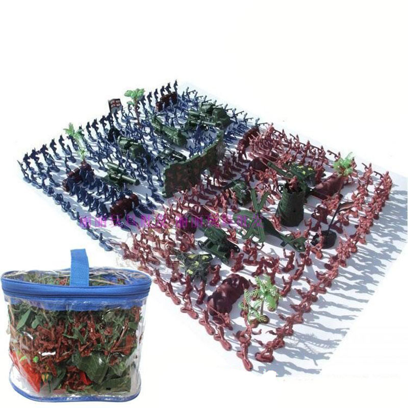 270Pcs Military Plastic Toy Soldier Army Men Figures & Accessories Playset Soldier Model Sandbox Game Model Toy For Kids Boys free shipping super affordable military base 310pcs set plastics toy soldier sand table model army soldier boy christmas gifts