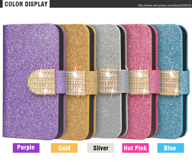 Diamond Filp Leather Case For Huawei  ALE-l21 5.0 inch Wallet Stand Case For Huawei P8 Lite P8 mini Luxury Cover Phone Bags&Case