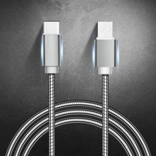 Heavy Duty Metal Braided USB Charger Cable for IPhone X Xr 7 6 Type C for Samsung Note 9 S10 S9 S8 Data Cable for Micro 2A FAST cheap tikono Apple iPhones Motorola TOSHIBA panasonic Blackberry Nokia Palm Reversible USB cable for iphone 6 6s 7 7 Plus 8 8 Plus cable