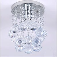 Deluxe Mini Modern Crystal Branded Ceiling Indoor Coffee Bar Corridor Passage LED Pendant Diameter 6 29