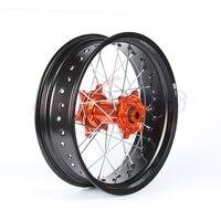 5,0*17 Supermotard заднее колесо оранжевый концентратор обод для KTM SXF EXC R XC F SX EXC 300 450 125 250 350 530 2003 2017 2008 2007