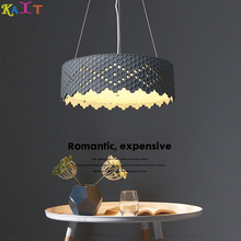 KAIT Nordic Chandelier Lamp Dining Room Multicolor Metal Led Pendant Lights