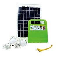 1 Set Draagbare Outdoor Emergency Zonne-energie Generator Lading Verlichting Kit 10 W Zonne-energie Lamp Camping Tent lantaarn