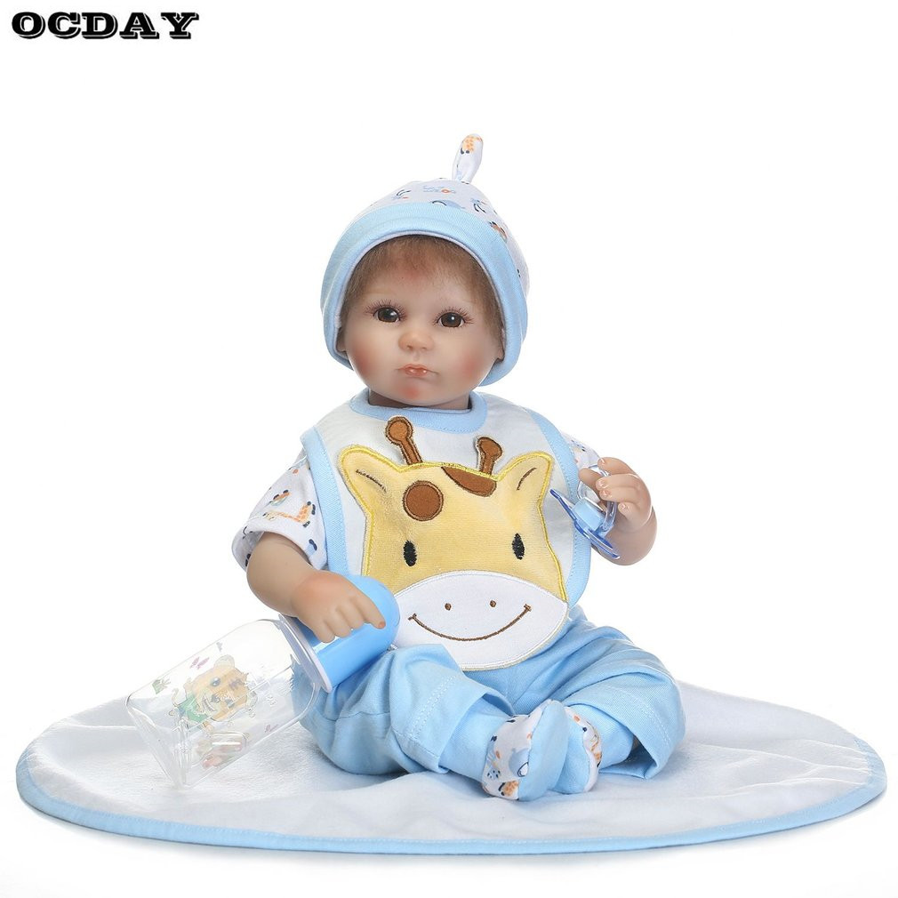 Hot! 16 Inch Reborn Baby Doll Full Body Soft Silicone Vinyl Baby Doll Lifelike Newborn Baby Doll Toys Playmate Alive Toys Doll free shipping 18 inches sleeping reborn baby doll handmade soft silicone vinyl baby alive doll lifelike hot toys 100