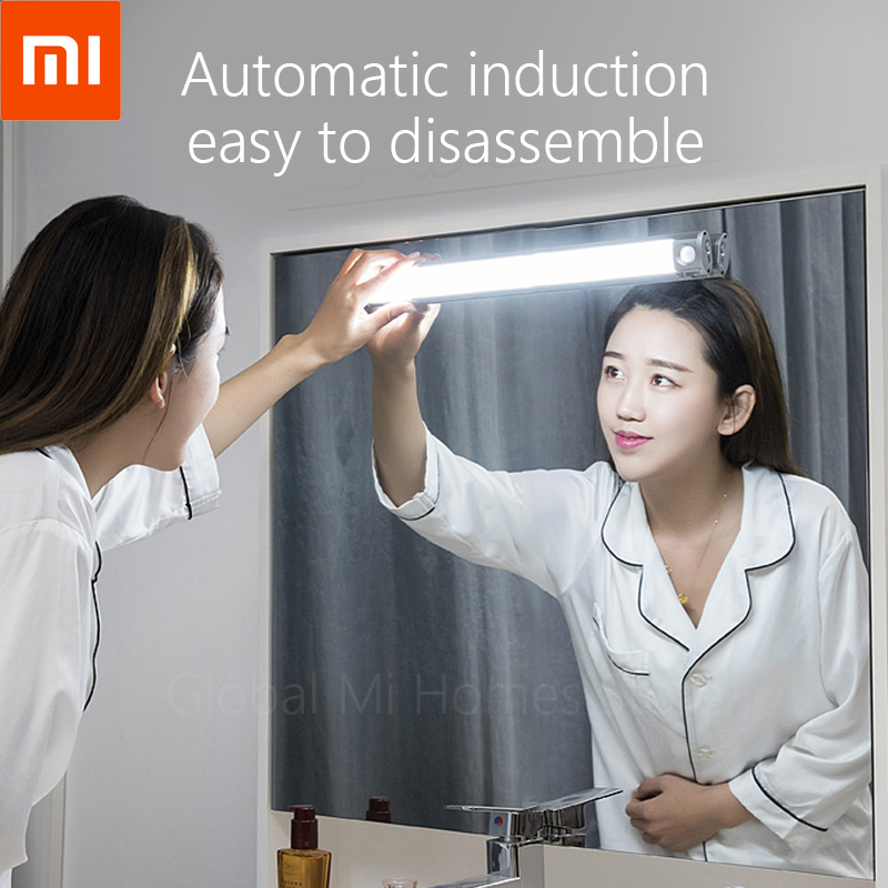 Xiaomi Youpin Wanhuo LED mirror headlamp induction toilet non-punching night lamp charging bedside bedside household bedside(China)