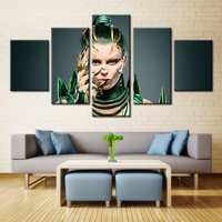 Forbeauty 5 Piece Canvas Painting Art Picture Posters And Prints Wallpaper Power Rangers Golden Nueva Pelicula