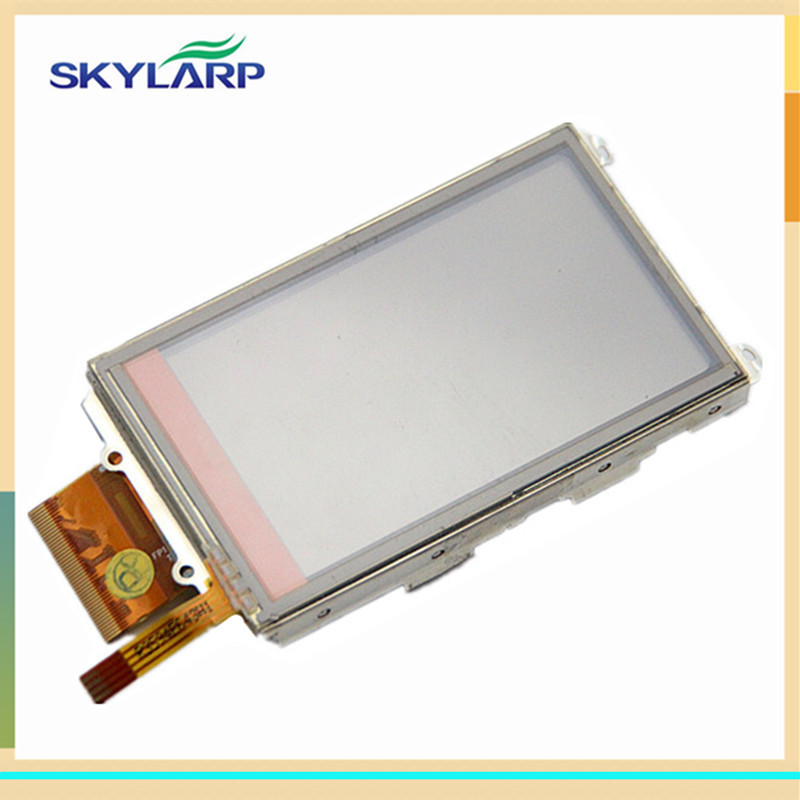 skylarpu 3 inch LCD panel For GARMIN COLORADO 400 400i 400c 400t Handheld GPS LCD display + touch screen digitizer (with logo) handheld game 3 inch touch screen lcd displays 4 way cross keypad polar system