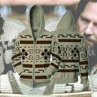 The Big Lebowski Cosplay Hoodies Jeff Bridges Sweatshirts Men Women Adults Zipper Hooded Jacket Halloween Christmas Coat