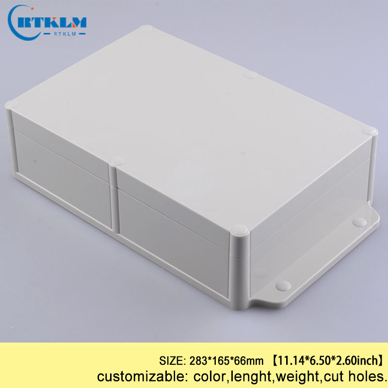 Wall mounting plastic project box abs enclosures for electronics waterproof diy junction box outdoor equipment 283*165*66mm IP68Wall mounting plastic project box abs enclosures for electronics waterproof diy junction box outdoor equipment 283*165*66mm IP68