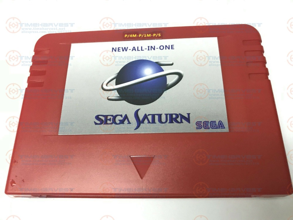NEW-ALL-IN-1 Sega Pseudo Saturn Cartriage Action replay Card with Direct reading 4M Accelerator Goldfinger function 8MB memory image