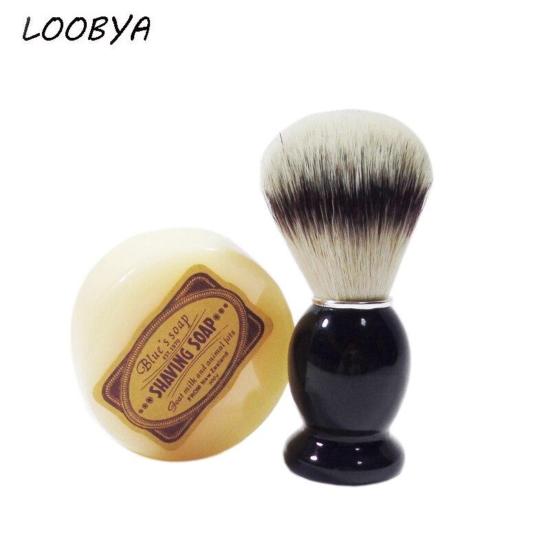 2tk / komplekt puidust käepideme raseerimispintsel raseerija seebiga meeste habemeajamiseks