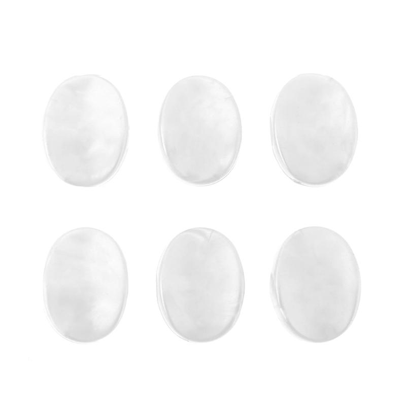 6pcs/Lot Plastic Guitar Tuning Pegs Tuners Machine Heads Replacement Button Knobs Small oval White Pearl Guitar Accessories