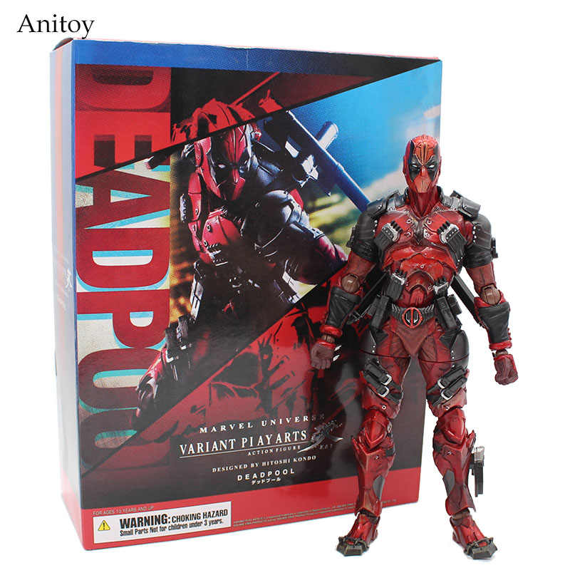 Deadpool Figura X-Men Deadpool Marvel Universe Variant Jogar Arts Kai Arma PVC Action Figure Collectible Modelo Toy Boneca 26 cm
