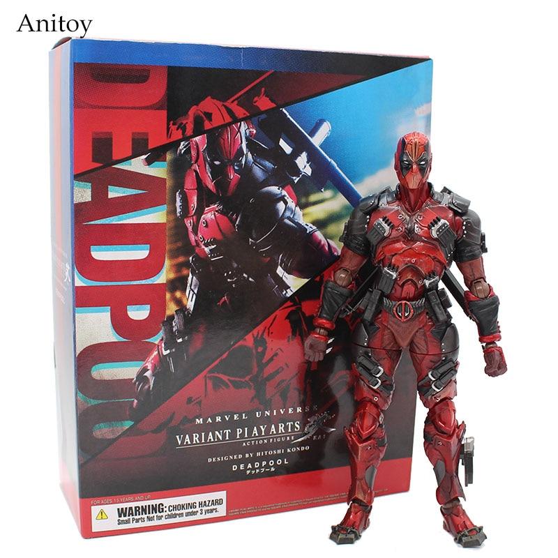 Deadpool Figure X-Hommes Marvel Univers Variant Play Arts Kai Deadpool Arme Action PVC Figure Collection Modèle Poupée Jouet 26 cm
