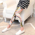 Floral Printed Cotton Maternity Leggings for Pregnant Women Summer High Waist Maternity Pants Casual Fashion Pregnancy 0125