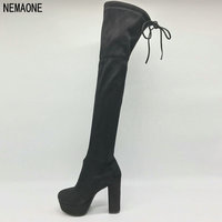 NEMAONE Faux Suede Slim Boots Sexy over the knee high women snow boots women's fashion thigh high boots shoes woman