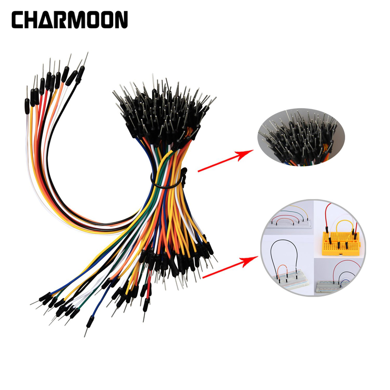 65pcs/Lot Breadboard Jumper Cables For Jump Code Wire Kit Solderless Flexible Breadboard Jumper Wires Cables Bread For Arduino