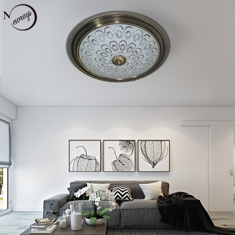 Vintage plated Classical style ceiling lamp LED 220V warm white lights ceiling lights for bedroom living room restaurant hallway цена и фото